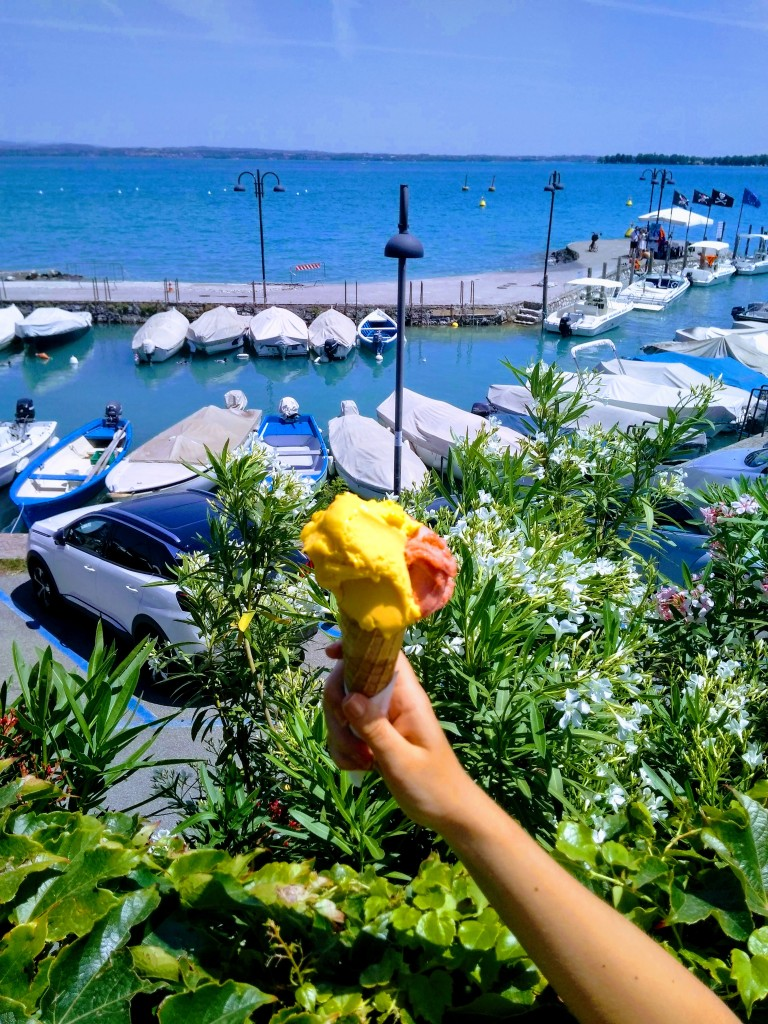 Sirmione, Lake Garda. Italy. Italian gelato.