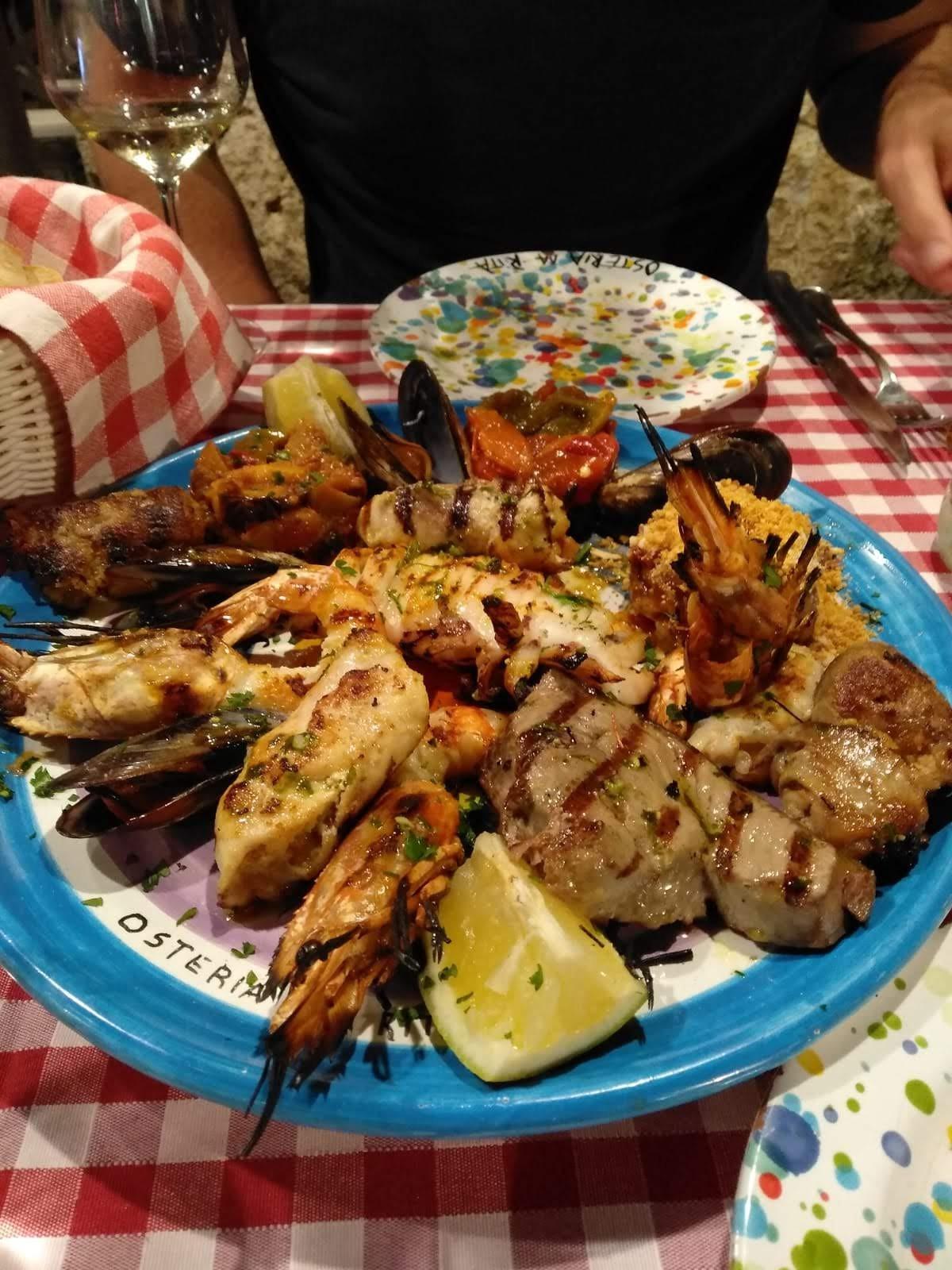 A seafood platter at Osteria da Rita