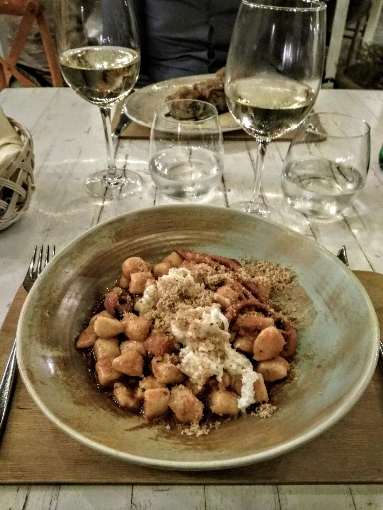 Gnocchi with seafood