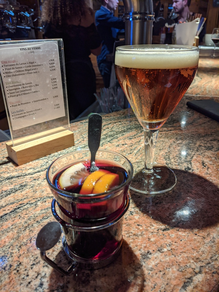 Siney beer and mulled wine